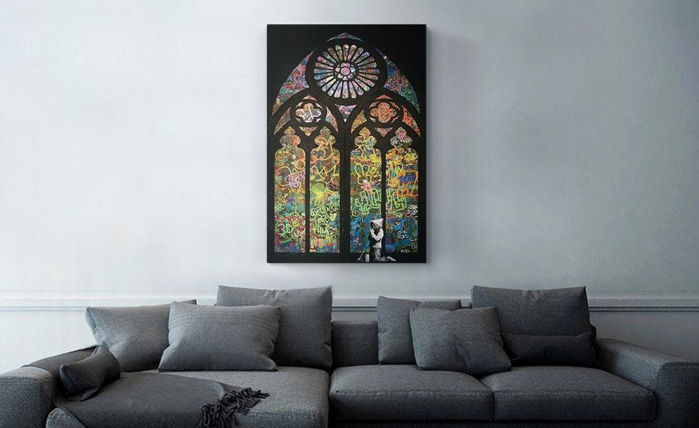 Graffiti Stained Glass