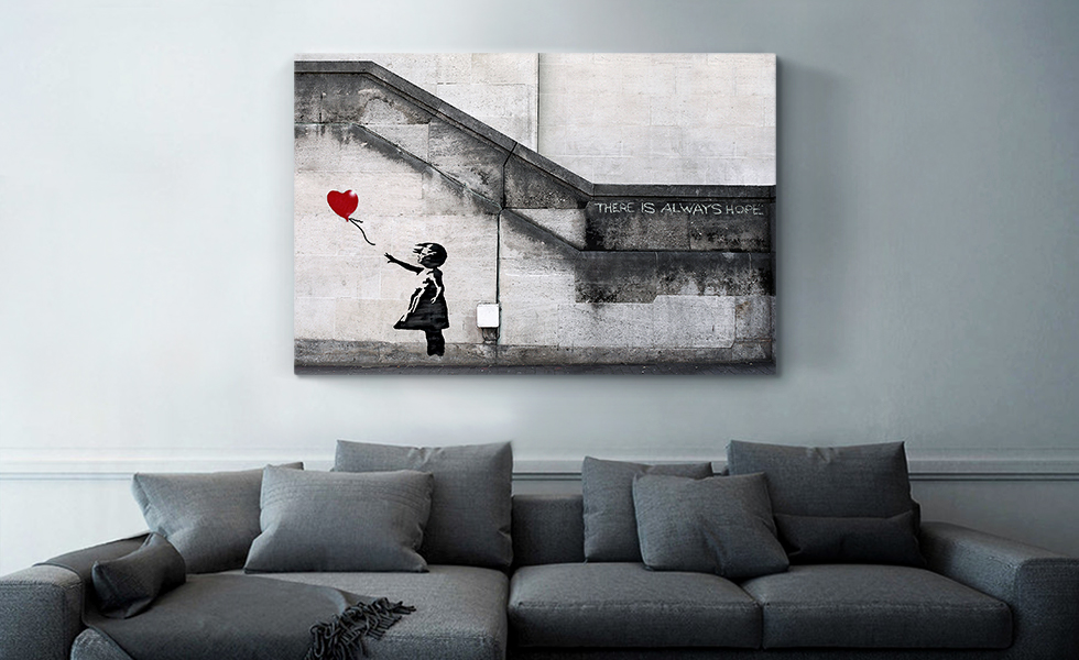 There Is Always Hope Balloon Girl