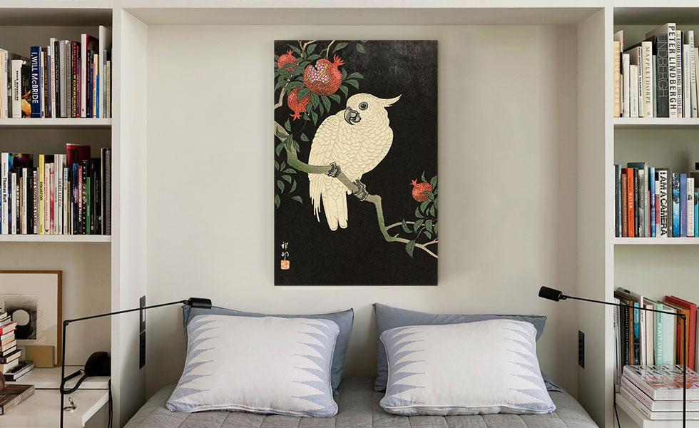Cockatoo and Pomegranate