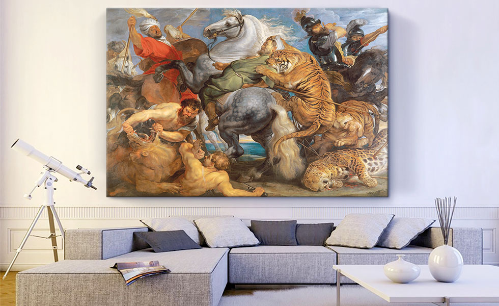 A Hunt of Lions, Tigers and Leopards 1615