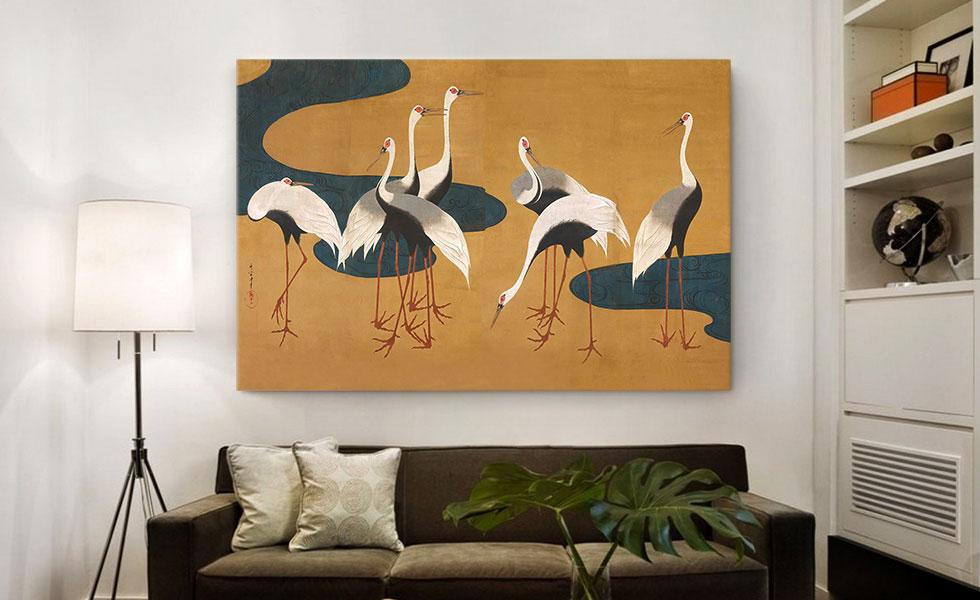 Cranes by Follower of Sakai Hoitsu
