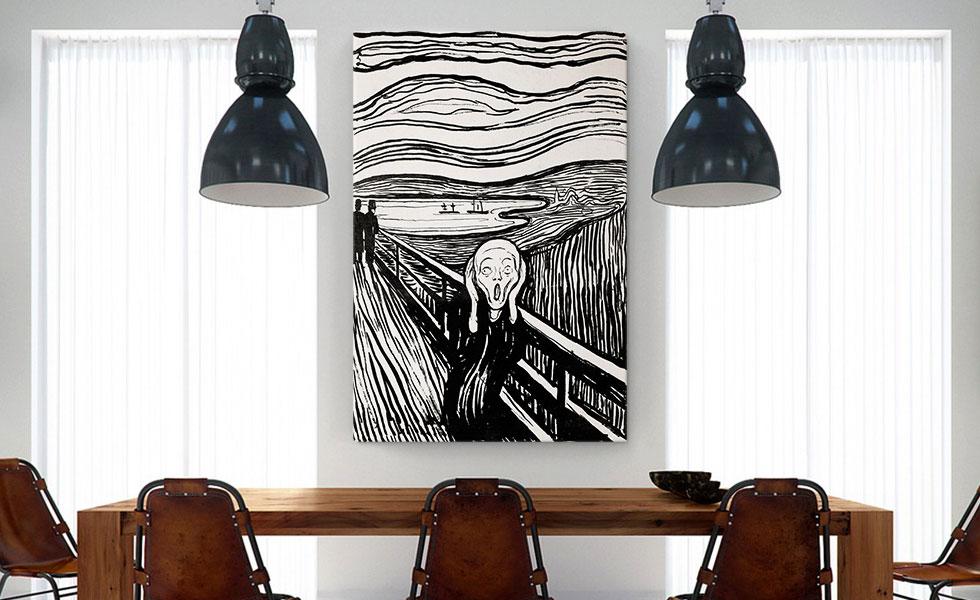 The Scream Black and White 1895