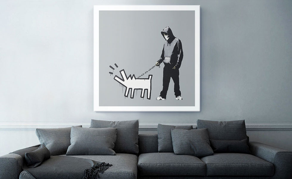 Choose Your Weapon Keith Haring Dog - Gray