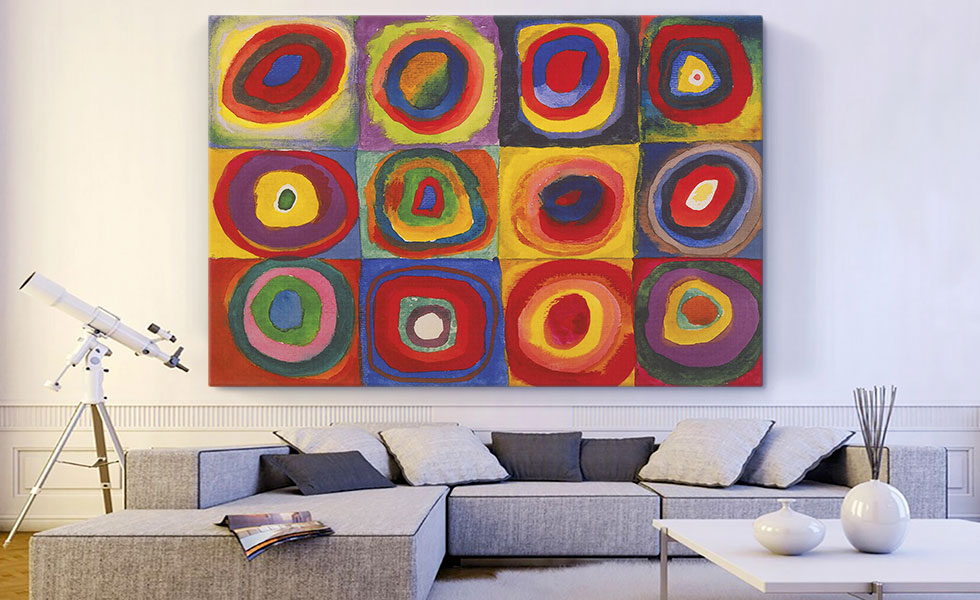 Color Study - Squares with Concentric Circles 1913